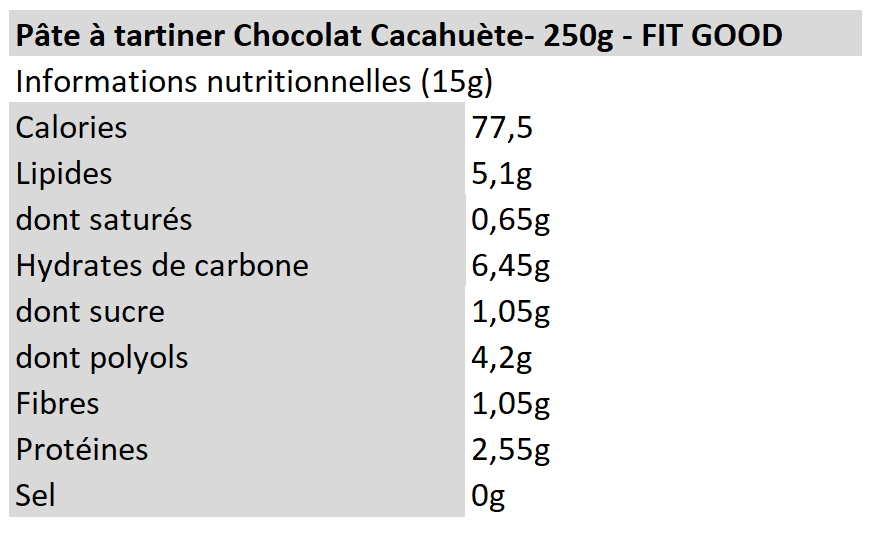 Protein Spread - Chocolat Peanut - fit Good
