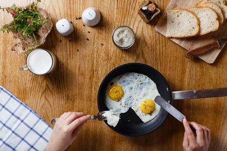 Mangez des protéines au petit-déjeuner