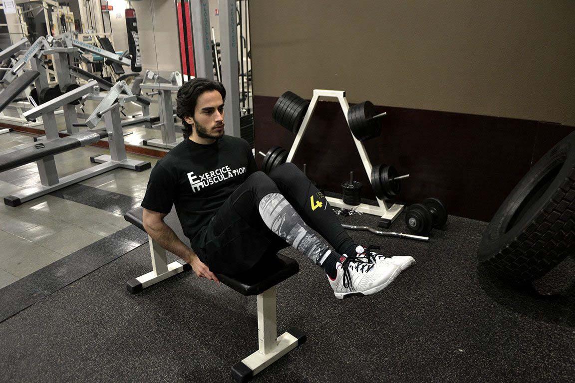 relevé de genoux abdominaux