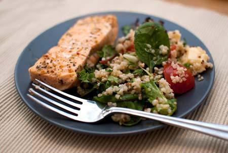 Saumon au quinoa