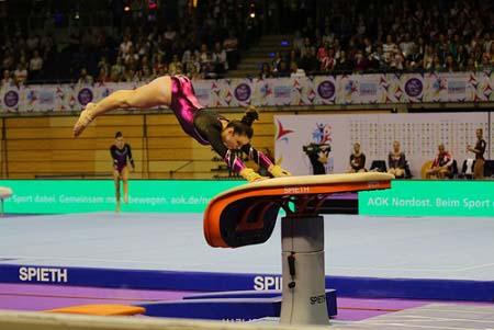 Le saut de cheval en gymnastique