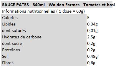 Walden Farms - Pâtes Tomates basilic
