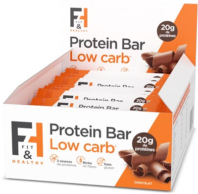 Fit & Healthy Protein bar low carb pack de 12