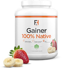 Gainer 100% Native Fit & Healthy goût fraise - banane