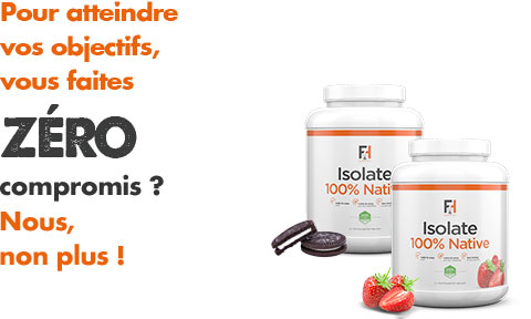 Isolate 100% Native - Fit & Healthy - Protéine Isolate | Toutelanutrition