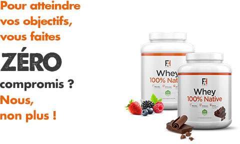 Whey 100% Native - Fit & Healthy - Whey Protéine | Toutelanutrition