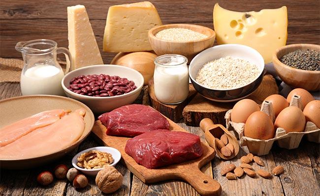 Plateau regroupant différentes sources de protéines