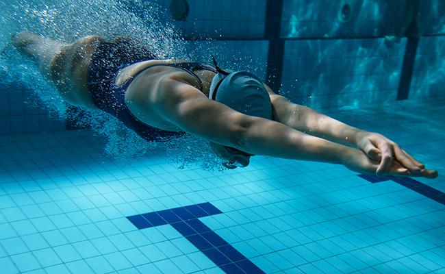 Positionnement du corps en natation