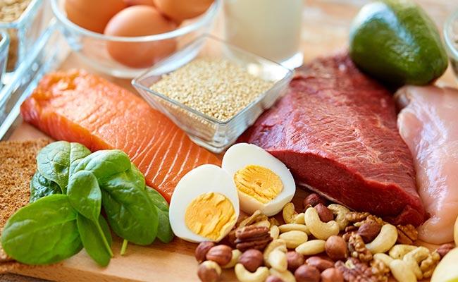 Assortiment de différentes sources de protéines