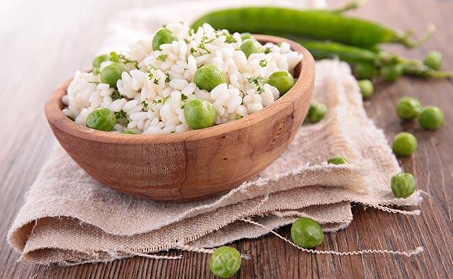 Association légumineuse et féculent : pois et riz