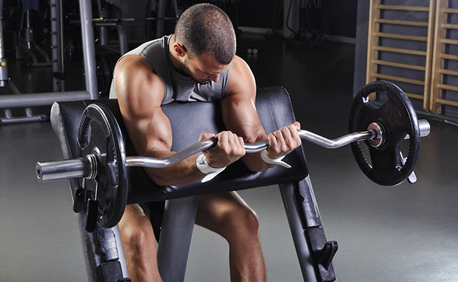 Exemple d'exercice de base : curl biceps avec haltère