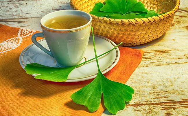 Ginkgo Biloba infusé dans un thé