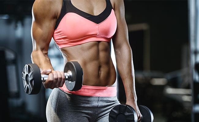 Sportive aux muscles secs