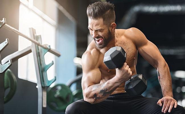 Sportif dessiné souhaitant améliorer sa définition musculaire