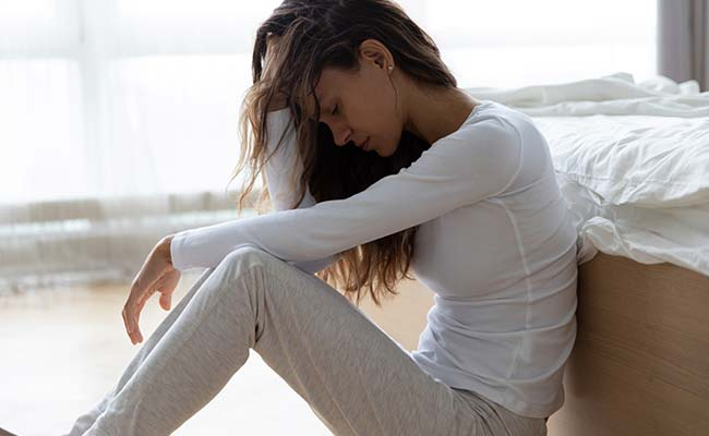 Jeune femme dépressive