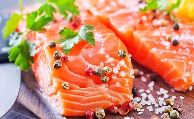 Saumon frais au poivre