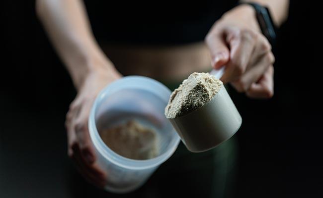 Préparation d'un shaker de protéines en poudre