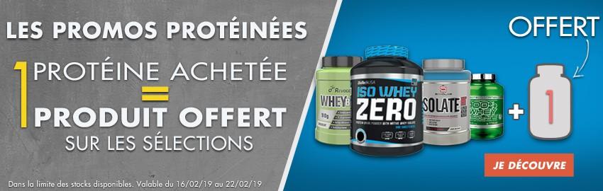 Les Promos protéinées : pour une protéine achetée, 1 produit offert !