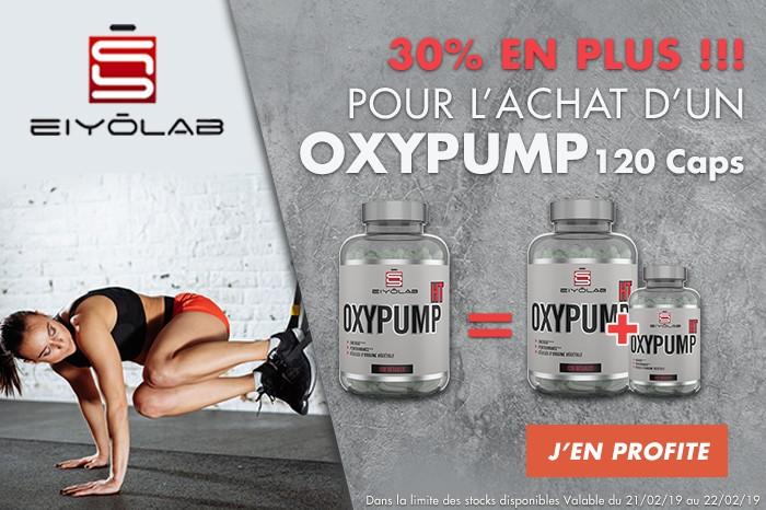 Eiyolab, 30% en plus ! 1 Oxypump 120 acheté, 1 Oxypump 40 offert