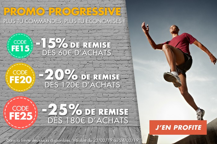 Promo progressive : plus tu commandes, plus tu économises