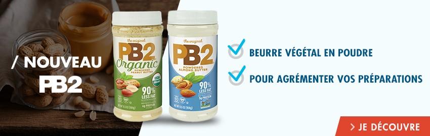 PB2 Foods, beurres de cacahuètes & amande lyophilisés