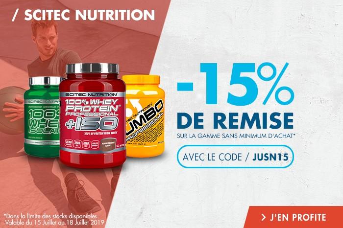 Scitec Nutrition : -15% de remise sur toute la gamme