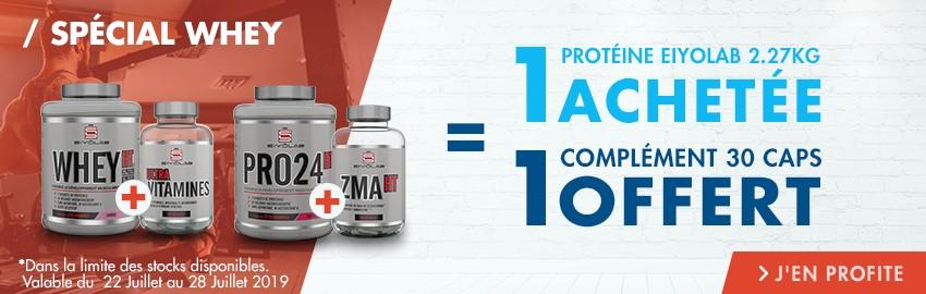 Whey : 1 protéine Eiyolab achetée, 1 produit offert !