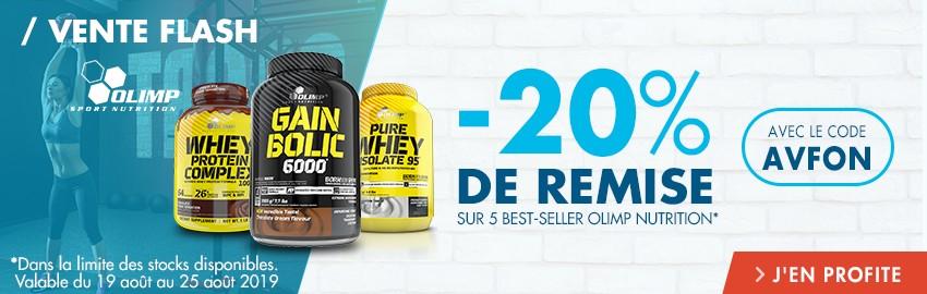 Vente Flash Olimp nutrition : -20% sur 5 best sellers !